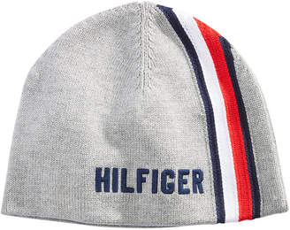 Tommy Hilfiger Men's Striped Logo Beanie, Created for Macy's