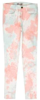 Wildfox Couture Tie-Dye Mid-Rise Jeans