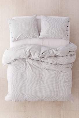 Micro Check Yarn-Dye Duvet Cover