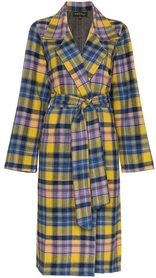 Checked Clarke Merino Wool Coat