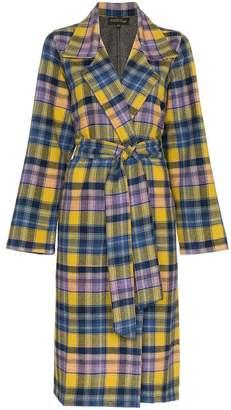 A Peace Treaty Checked Clarke Merino Wool Coat
