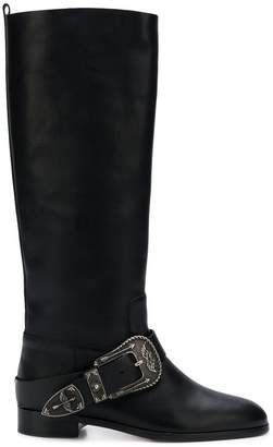 RED Valentino RED(V) buckle knee-length boots