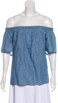 Joie Chambray Off-The-Shoulder Top w/ Tags