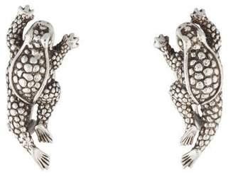 Kieselstein-Cord Sculpted Frog Clip-On Earrings