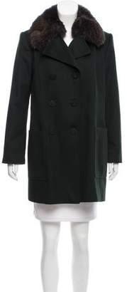 Gucci Fur-Trimmed Wool Coat