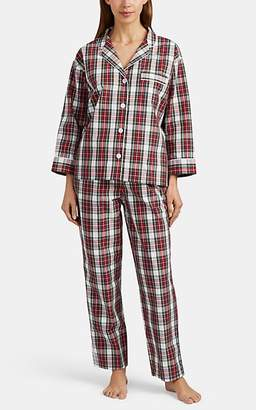 Sleepy Jones WOMEN'S MARINA PLAID COTTON FLANNEL PAJAMA SET