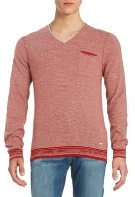 HUGO BOSS V-Neck Striped Pullover