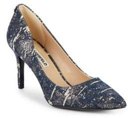 Denim Splatter Pumps