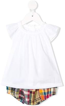 Ralph Lauren shortsleeved top and checked bloomers set