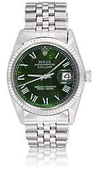 Rolex Vintage Watch Women's 1972 Oyster Perpetual Datejust Watch - Green