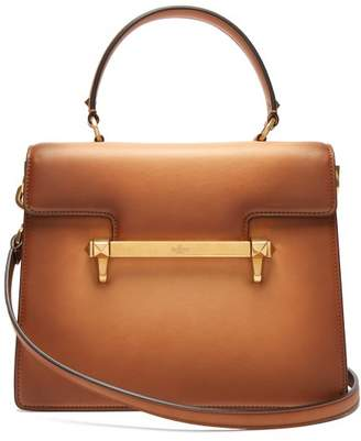 Valentino Uptown Leather Top Handle Bag - Womens - Tan