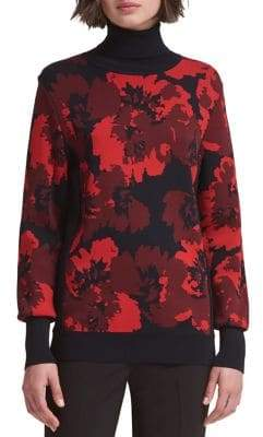 DKNY Printed Turtleneck Pullover
