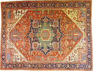 "One Kings Lane Vintage Antique Persian Serapi Rug - 12'9"" x 10' - Orientalist Home"