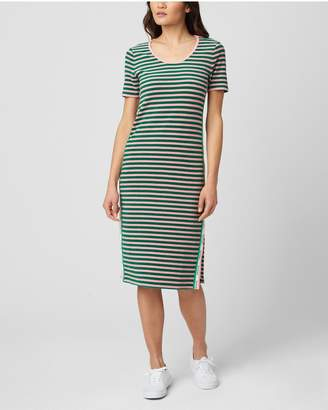 Juicy Couture STRIPED MICROTERRY MIDI DRESS