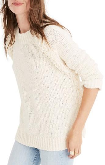 Women's Madewell Loopy Fringe Raglan Sweater