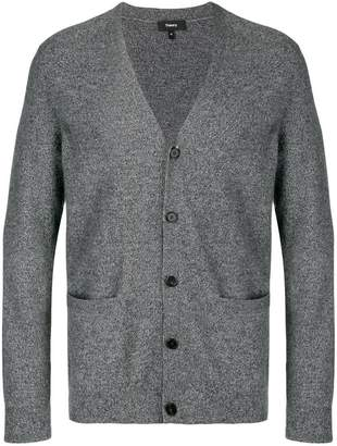 Theory front pocket buttoned cardigan