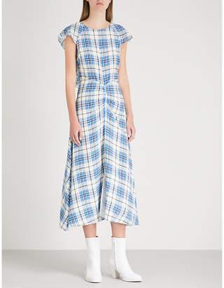 Paper London Dutch silk-crepe midi dress
