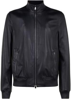 Corneliani Leather Biker Jacket