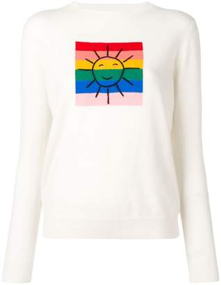 Parker Chinti & colour-block panel knitted sweater