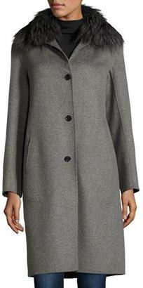 Neiman Marcus Cashmere Collection Cashmere Coat with Detachable Fur Collar $1,695 thestylecure.com