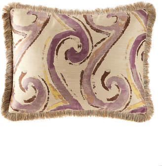 Dian Austin Couture Home Wisteria Scroll Standard Sham with Fringe