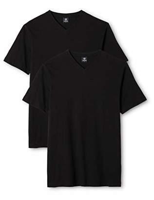 d359524b8e1be8 at Amazon.co.uk · Lerros Men's Herren Mit V-Ausschnitt Doppelpack T-Shirt