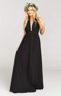 Show Me Your Mumu Luna Halter Dress ~ Black Chiffon