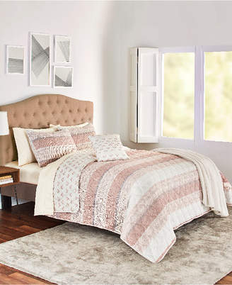 Sunham Kent 5-Pc. Reversible King Quilt Set Bedding