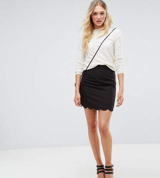 Asos (エイソス) - ASOS Tall ASOS DESIGN Tall tailored a-line mini skirt with scallop hem