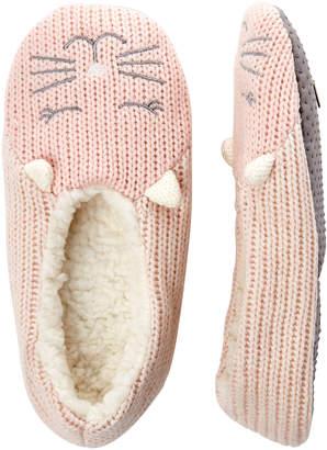 Capelli New York Kitty Knit Slipper Socks
