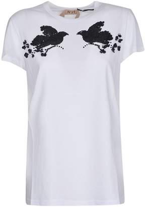 N°21 N.21 Sequin Embellished Birds T-shirt