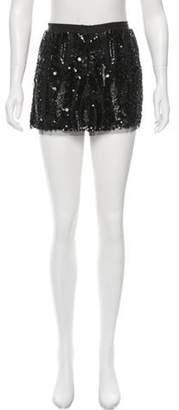 Gryphon Sequined Mini Skirt Black Sequined Mini Skirt