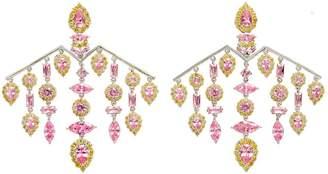 Fallon Versaille Pink Chandelier Earrings