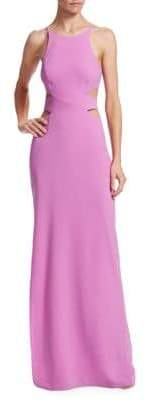Halston Tie-Back Cutout Gown