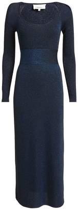 3.1 Phillip Lim Lurex Navy Midi Dress