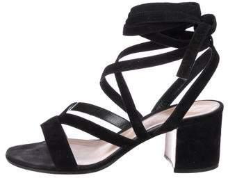 Gianvito Rossi Suede Multistrap Sandals