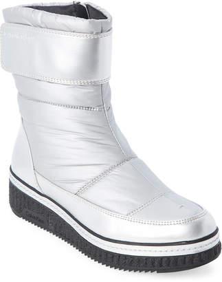 Calvin Klein Silver Leonie Nylon Wedge Boots