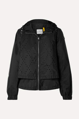 Noir Kei Ninomiya Moncler Genius - + 6 Hooded Perforated Shell Jacket - Black