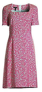 Escada Women's Devenev Squareneck A-Line Dress