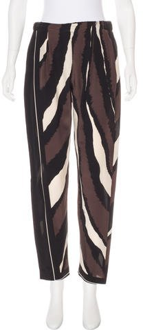 Fendi Silk High-Rise Pants