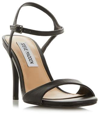 e3d711033c3 Steve Madden - Black Suede  Faith High Stiletto Heel Ankle Strap Sandals.  Debenhams ...