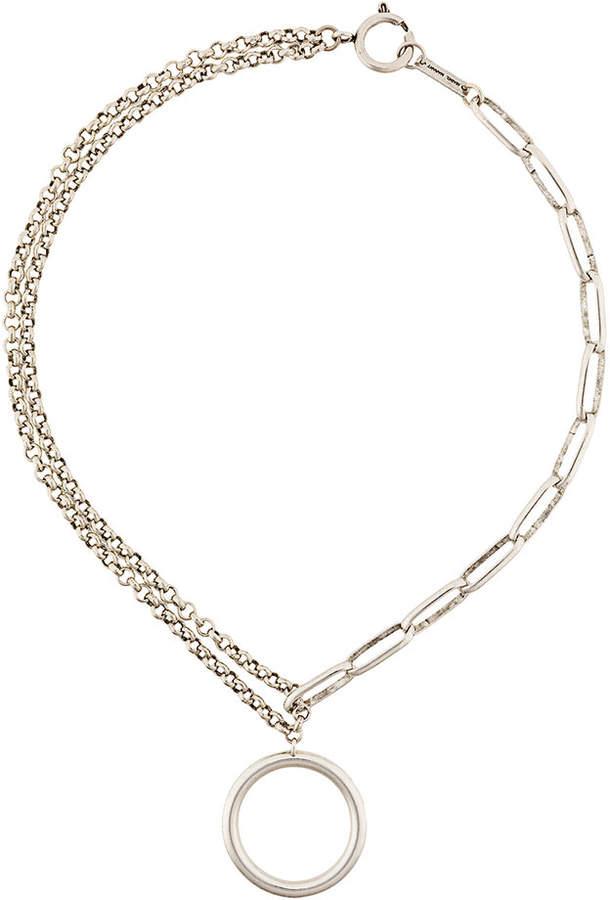 Halskette mit Ring-Anhäner