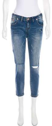 One Teaspoon Low-Rise Distressed Jeans