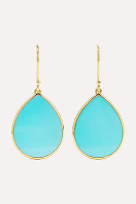 Ippolita Polished Rock Candy Mini 18-karat Gold Turquoise Earrings