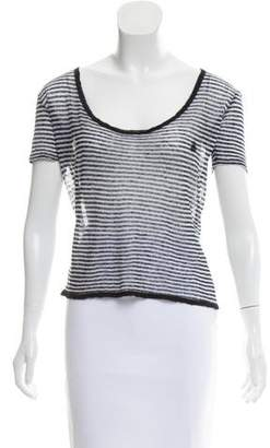 Sonia Rykiel Sonia by Linen Short Sleeve Top