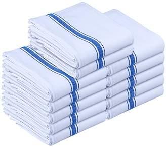 Utopia Towels Kitchen Towels - Dish Cloth (12 Pack) - Machine Washable Cotton White Kitchen Dishcloths