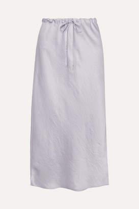Alexander Wang Crinkled-satin Midi Skirt - Lilac