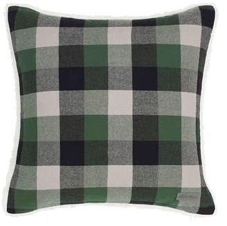 Eddie Bauer Finley Plaid Dark Pine Square Pillow Bedding