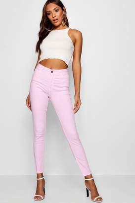 boohoo Kimberly Pastel Denim Skinny Jeans