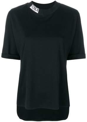 Fendi neck logo T-shirt